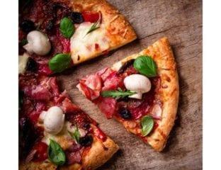 Ricotta, spinach, mushroom and egg pizza