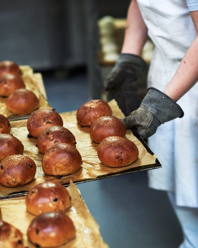 Image of brioche buns fresh out the oven