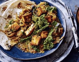Vegetarian indian paneer curry