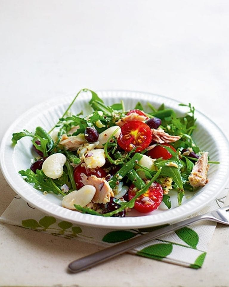 Tuna And Bean Salad With Mustard Dressing Recipe Delicious Magazine