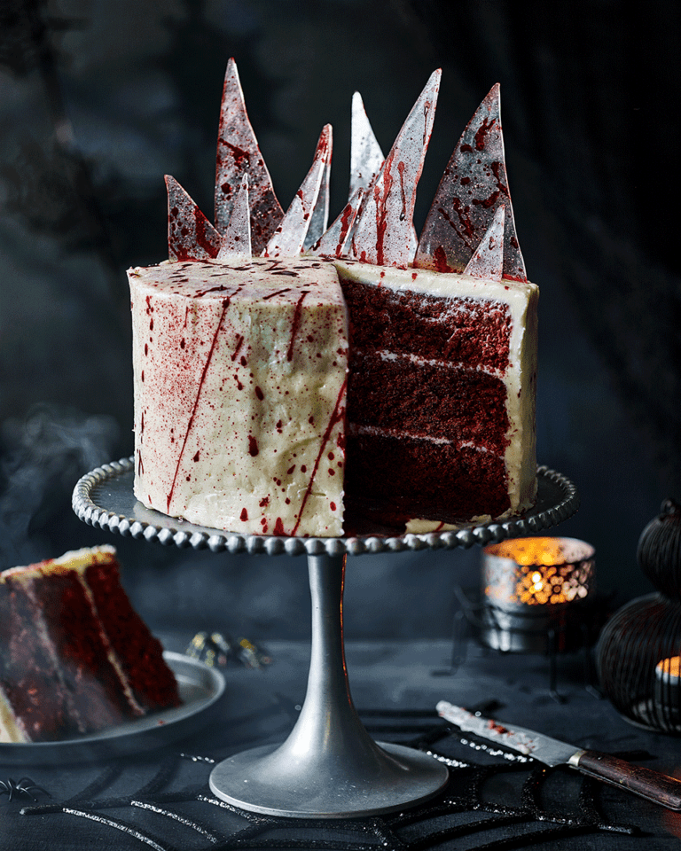 Blood splatter cake