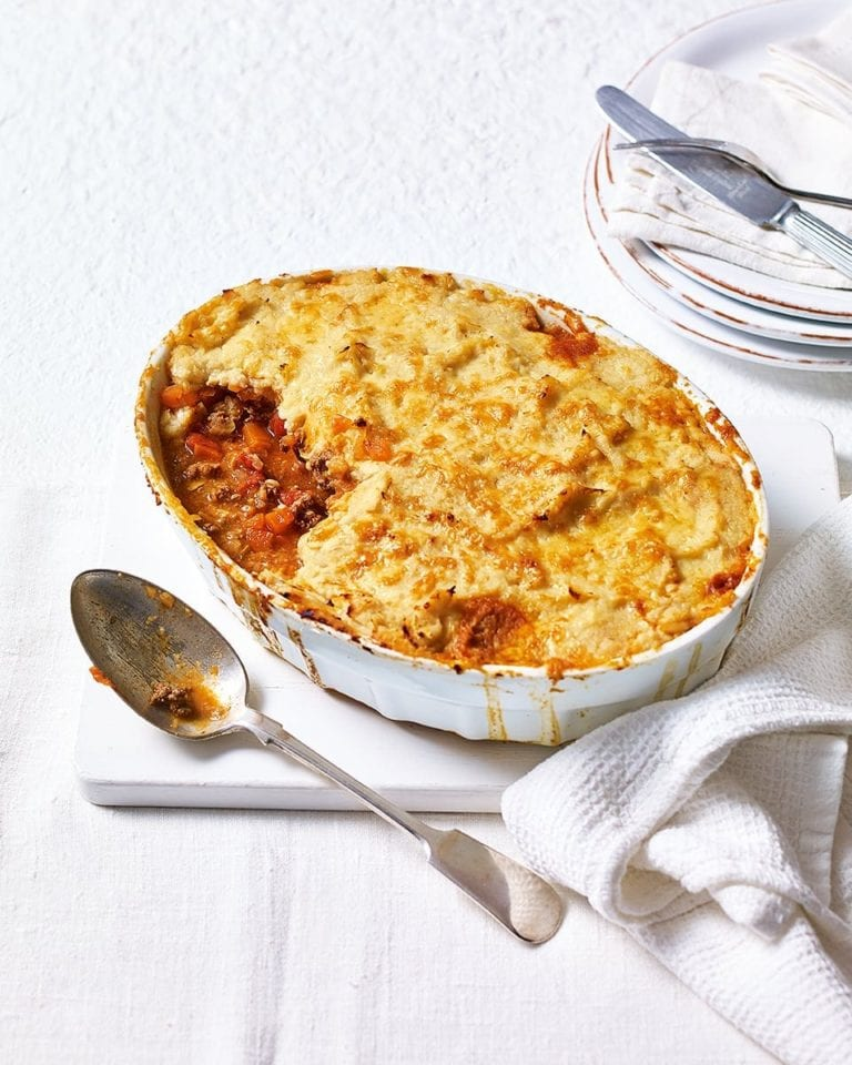 Lighter cottage pie