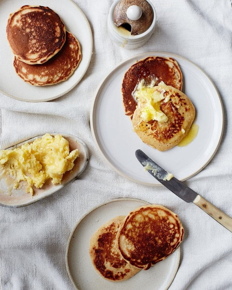 Cinnamon drop scones with honeyed butter