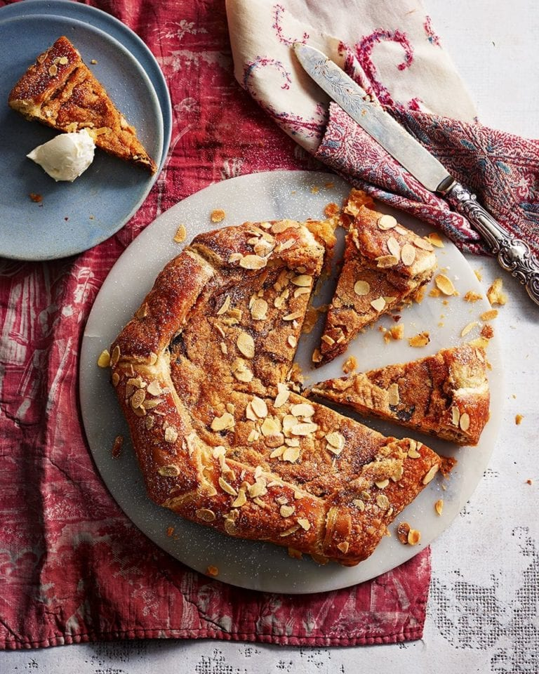 Chocolate and ginger studded frangipane galette