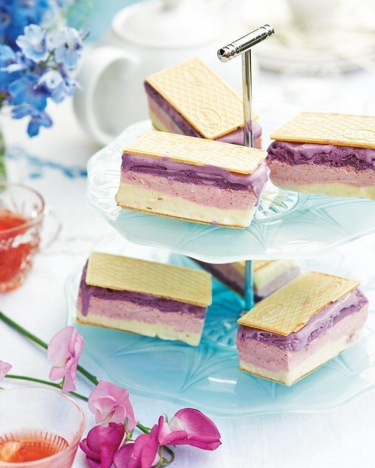 Neapolitan ice cream sandwiches