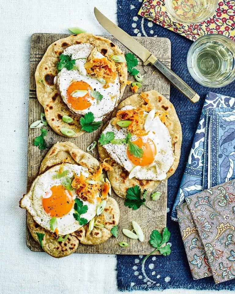 Kimchi parathas