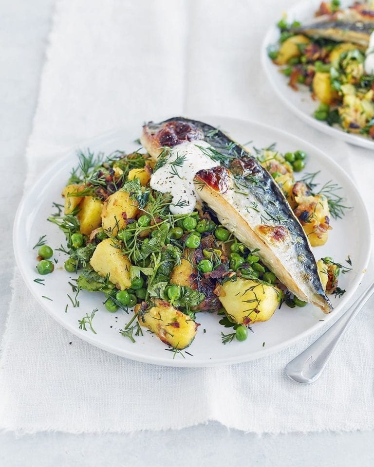 Mackerel with potato hash