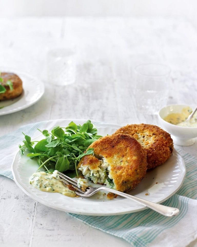Smoked haddock and watercress fishcakes