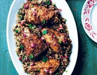 Spiced chicken with quinoa and lemon zest