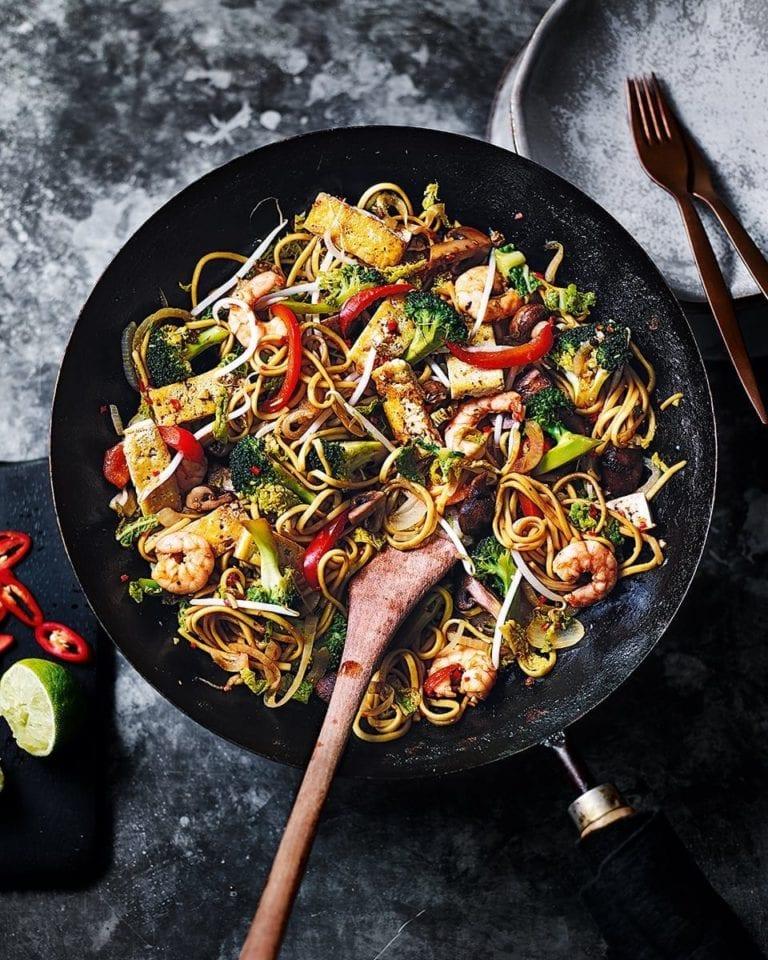 Hugh's prawn, cabbage and sichuan pepper stir-fry