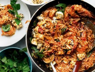 Image of Ottolenghi's prawn orzo
