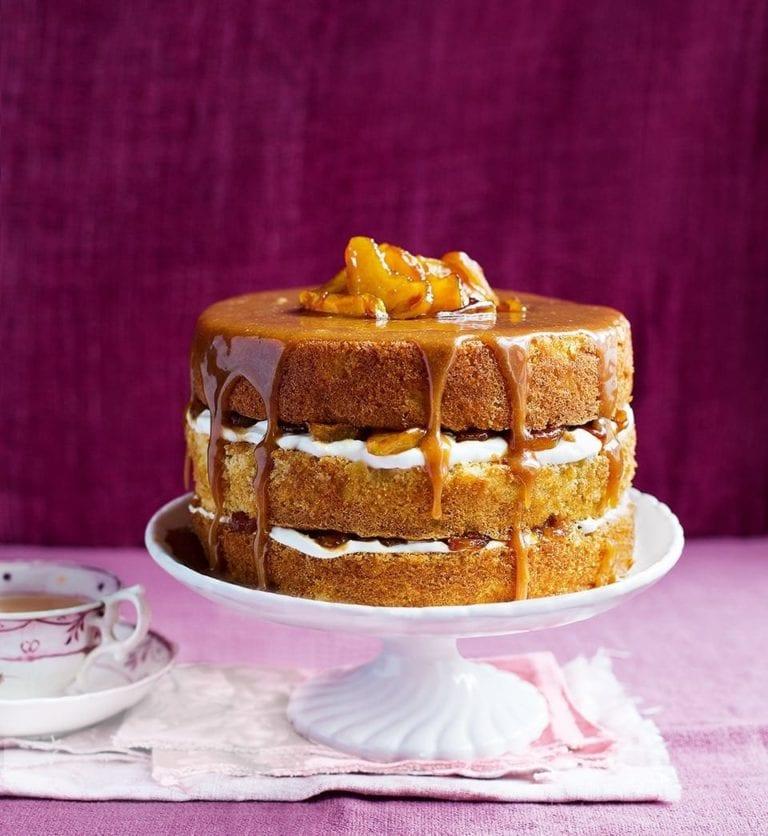 Apple caramel layer cake – video