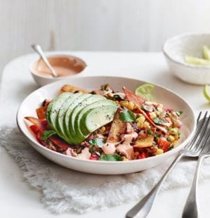 Crispy Mexican tortilla rice bowl – video
