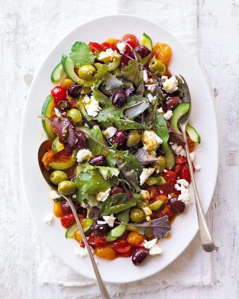 Marinated Greek salad