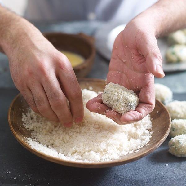 Dip into breadcrumbs