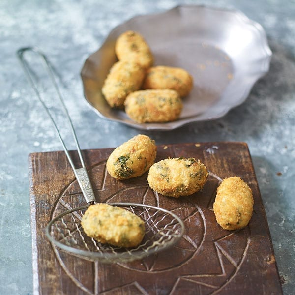 Deep-fried croquetas
