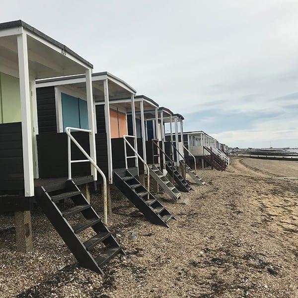 image of beach huts on thorpe bay beach