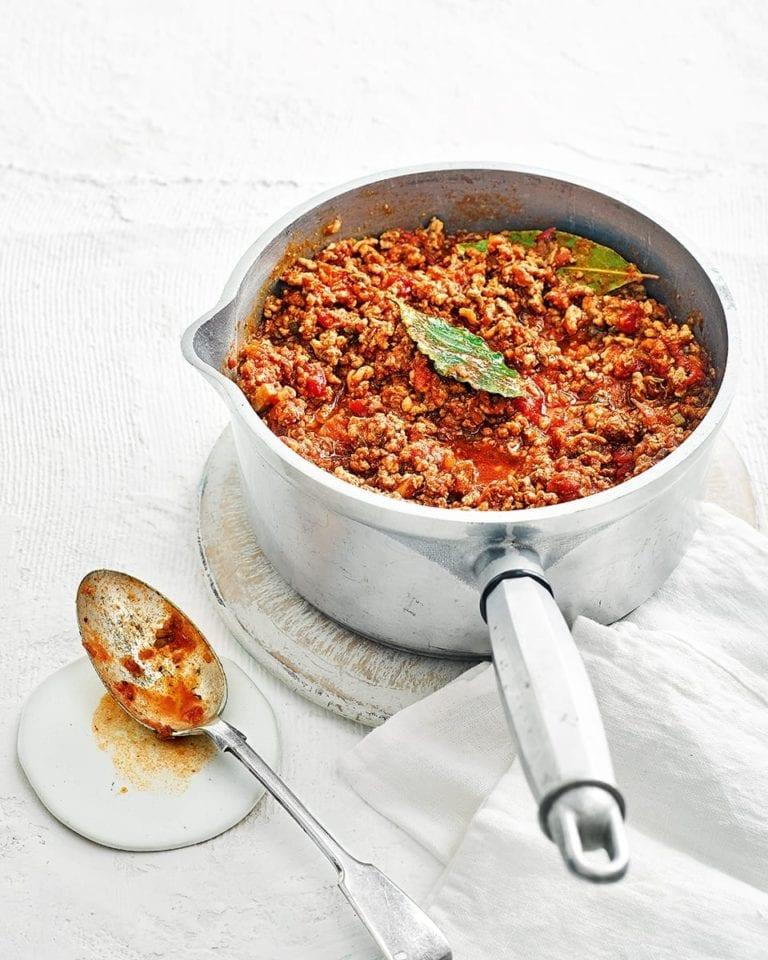Lighter bolognese sauce