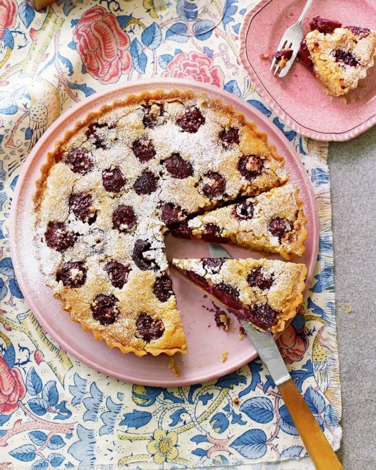 Italian cherry and almond tart