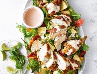 Mexican chicken taco salad