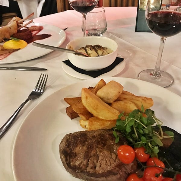 Image of steak and lamb rack mains