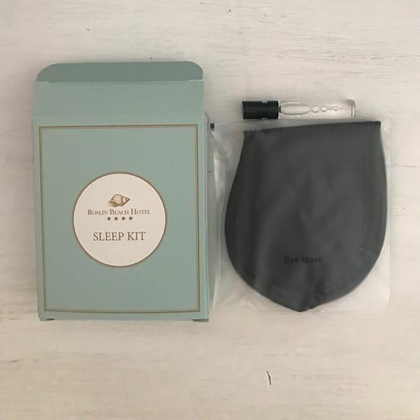Image of hotel sleep kit