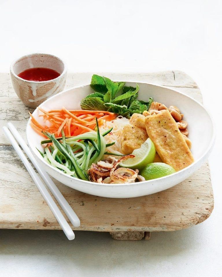Vietnamese-style crispy tofu bowl