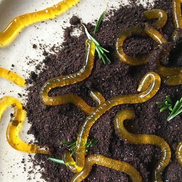 halloween jelly worm