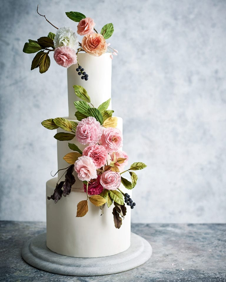 How to make sugar paste ranunculus flowers