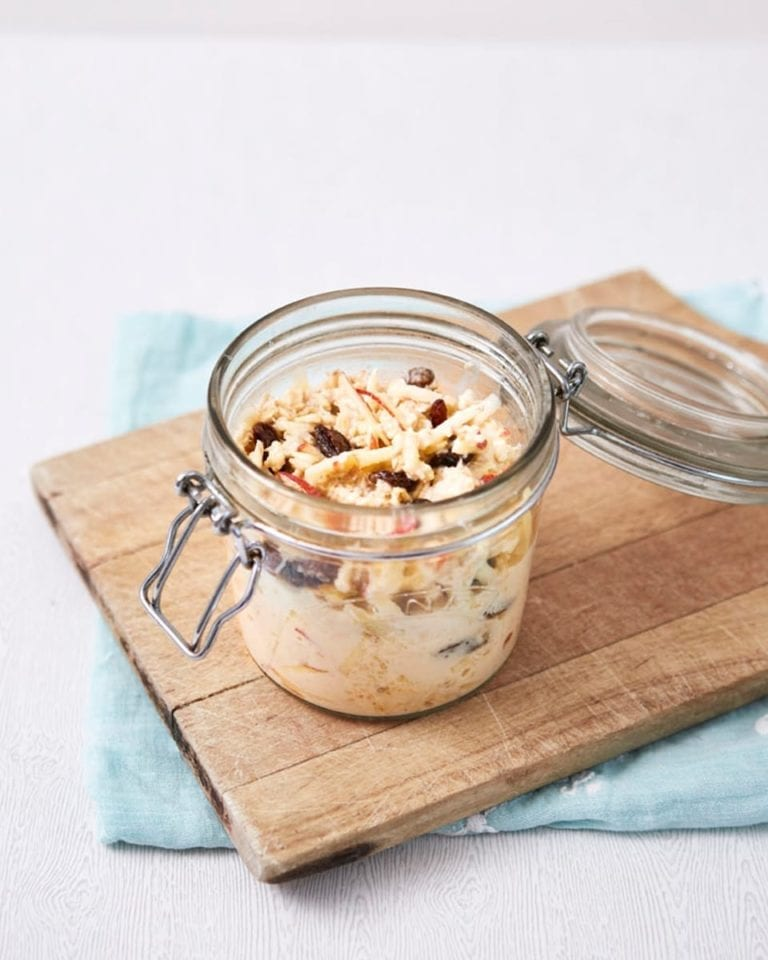 Bircher-style sultana and apple oats