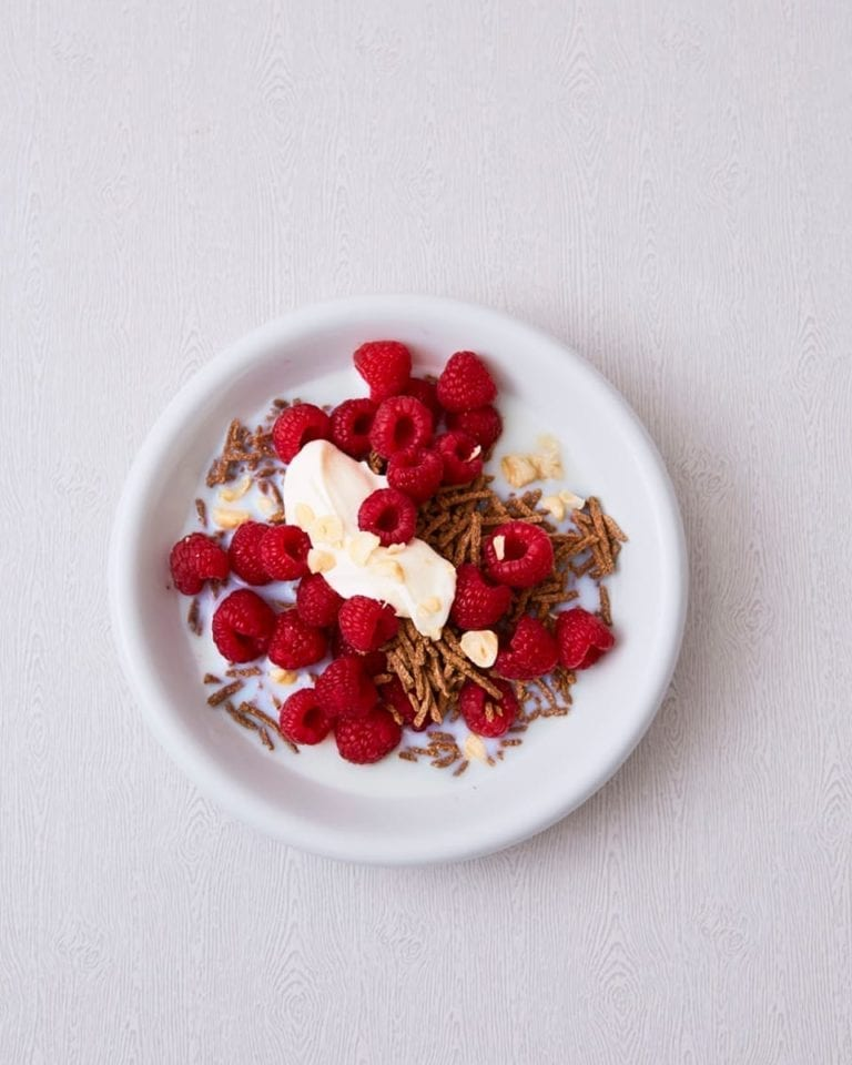 All-Bran fruit and nut breakfast bowl