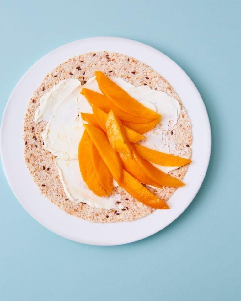 Mango breakfast wrap