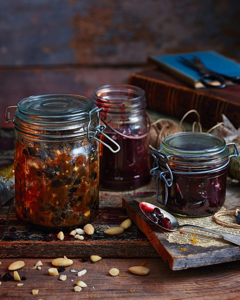 Boozy gin-soaked cranberries