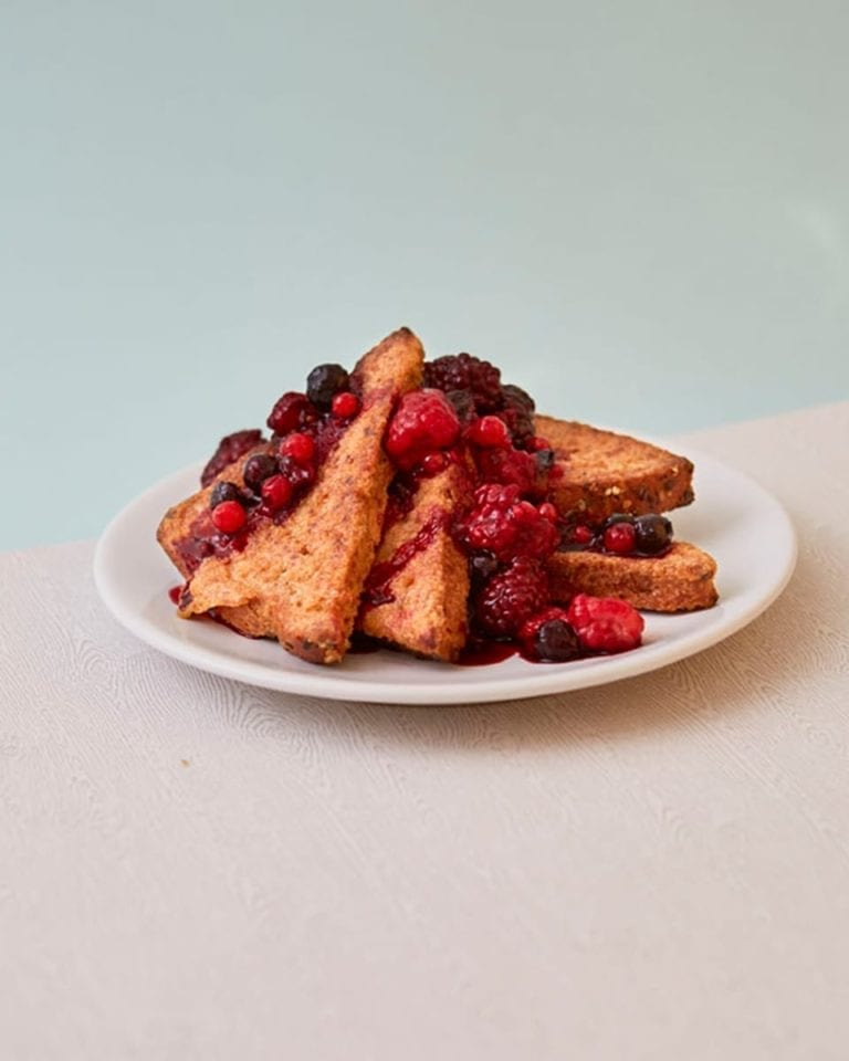 Mixed spice French toast