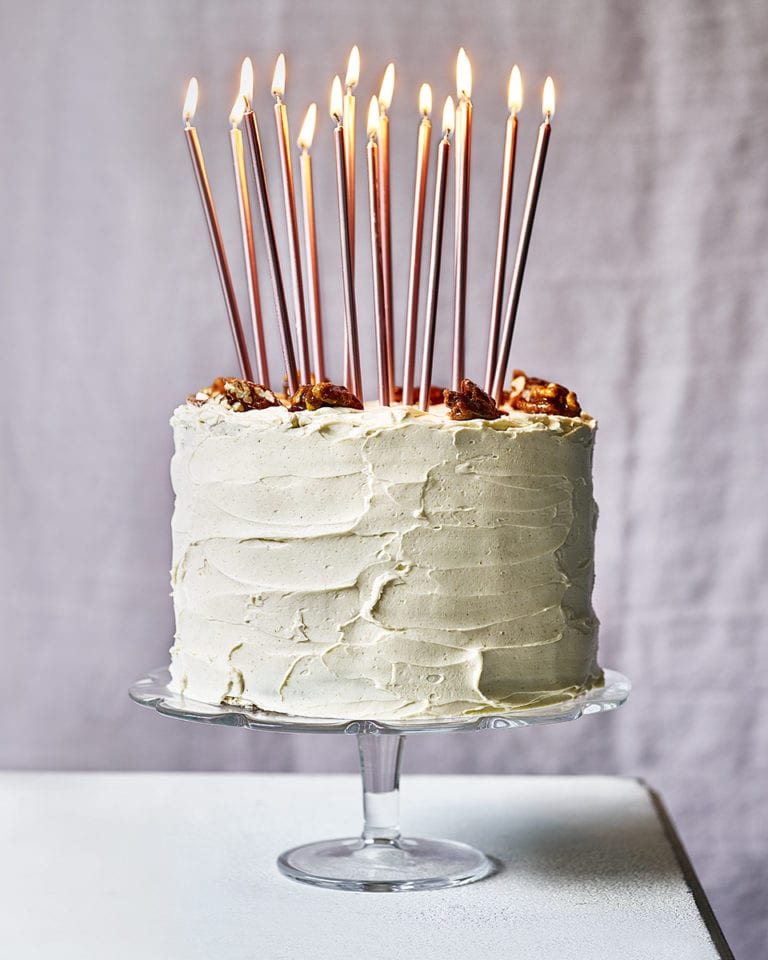 Eric Lanlard's carrot and pumpkin celebration cake