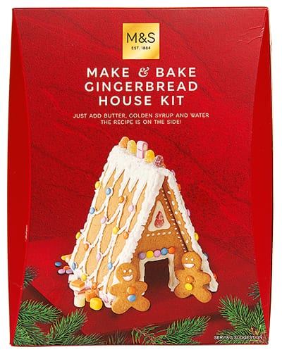 Marks and Spencer gingerbread house