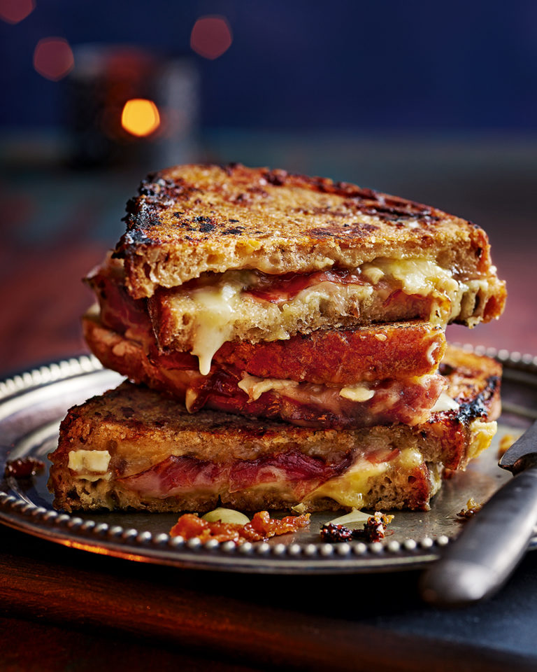 Christmas cheese toastie