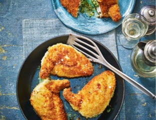 Stilton and watercress chicken kiev