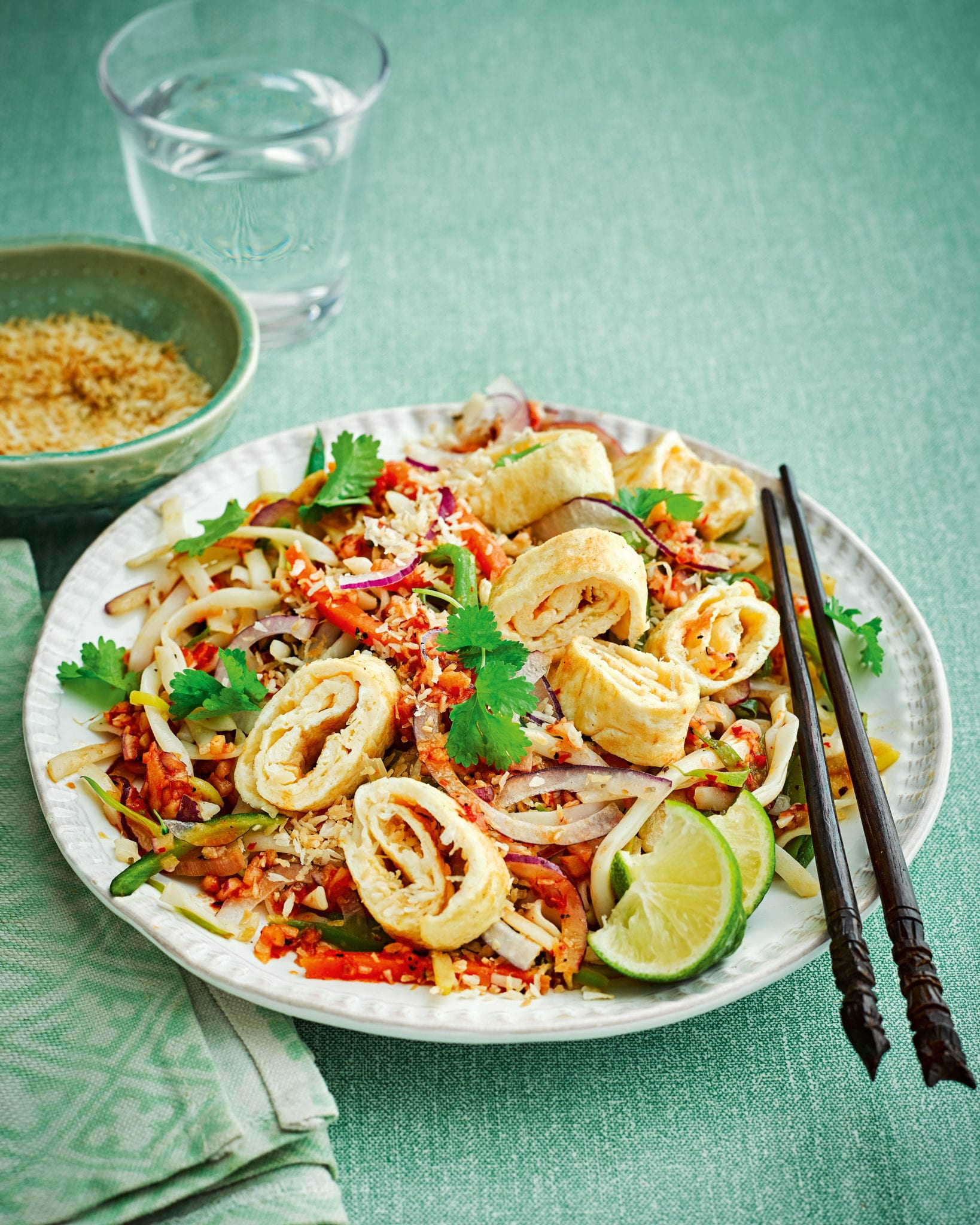 Stir Fried Rice Noodles With Quick Sambal And Omelette Recipe Delicious Magazine