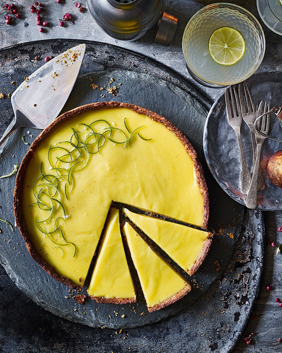 Gin and lime custard tart   delicious. magazine