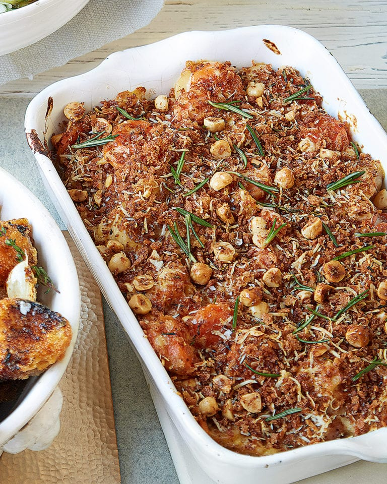Carrot, parsnip and mascarpone gratin