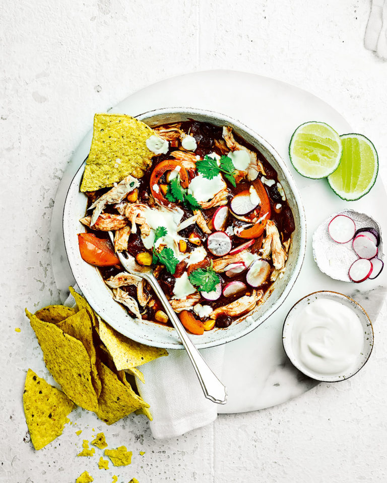 Mexican chicken and tortilla stew