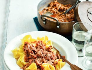 Slow-cooked duck ragù