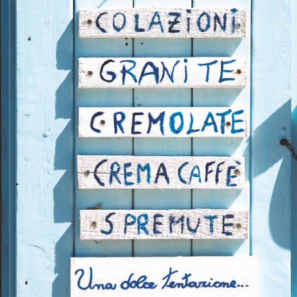 Gelateria menu