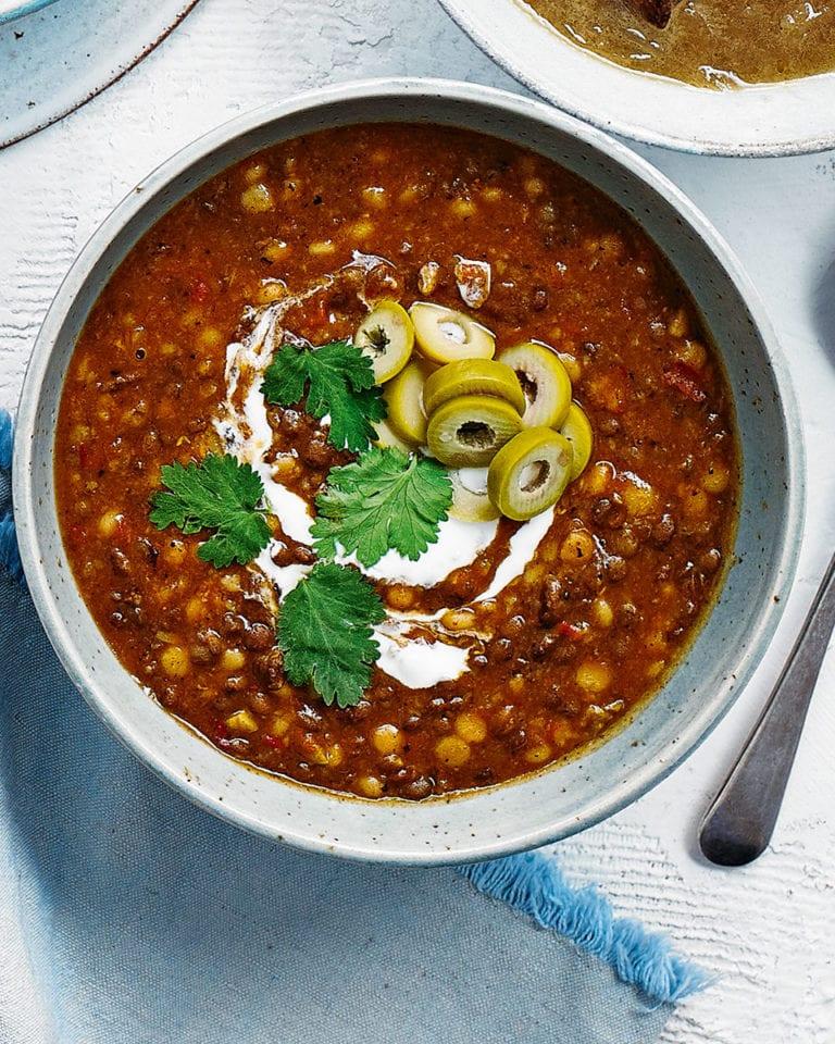 Spicy beef harira