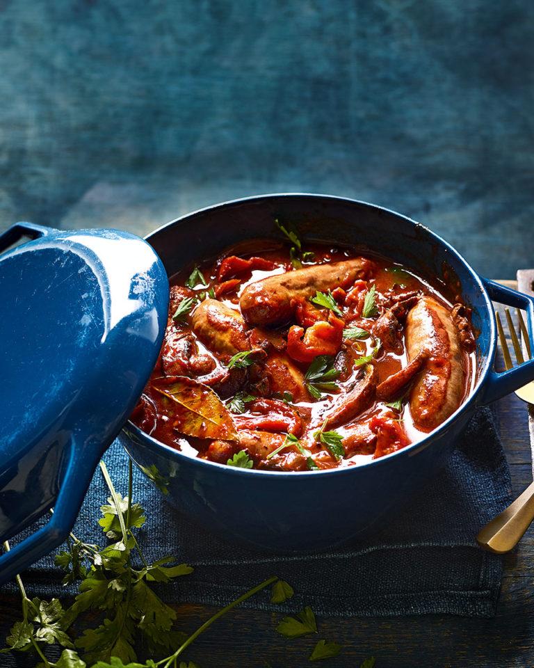 Italian sausage and porcini mushroom casserole