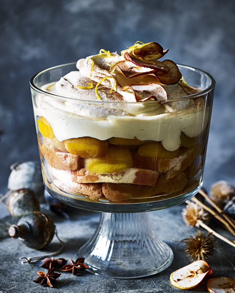 Mulled cider trifle