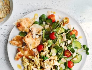 Quick coronation chicken salad