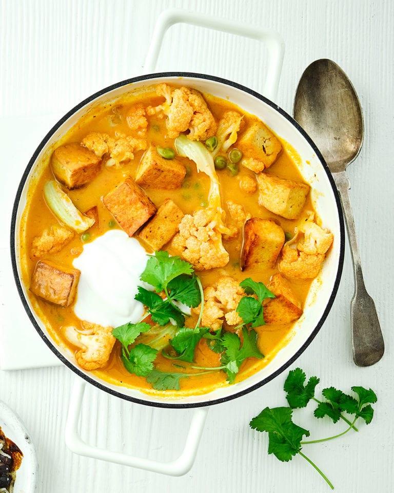 Tofu and cauliflower curry