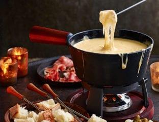 The ultimate swiss cheese fondue
